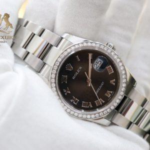 Dong Ho Rolex 116200 Mat Vi Tinh Den Coc La Ma Size 36mm Nam
