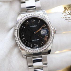 Dong Ho Rolex 116200 Mat Vi Tinh Den Coc La Ma Size 36mm Nam 6