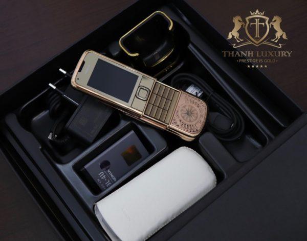 Nokia 8800e 4g Rose Gold 24k Kham Trong Dong Full Box Like New