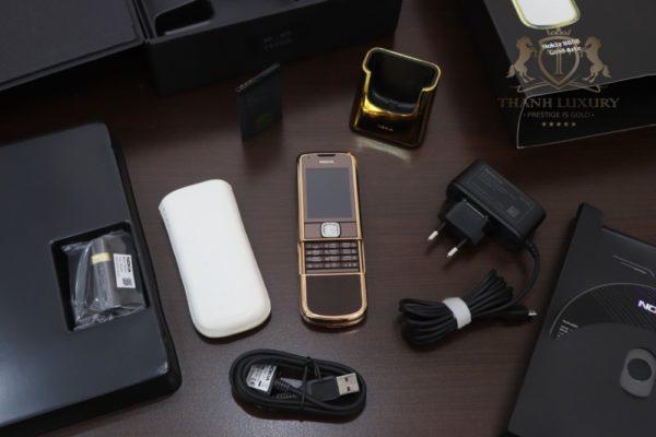 Nokia 8800e Saphire Brown Rose Gold 24k Diamond Key Full Box Like New 2