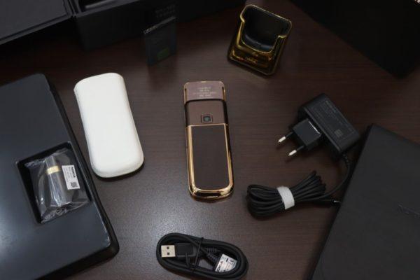 Nokia 8800e Saphire Brown Rose Gold 24k Diamond Key Full Box Like New 3