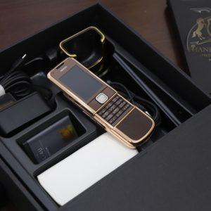 Nokia 8800e Saphire Brown Rose Gold 24k Diamond Key Full Box Like New