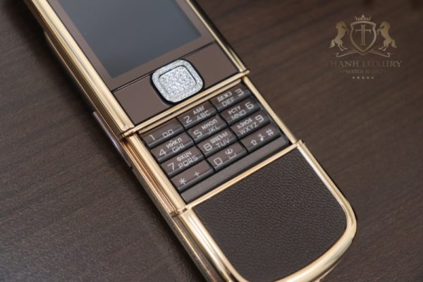 Nokia 8800e Saphire Brown Rose Gold 24k Diamond Key Full Box Like New 4