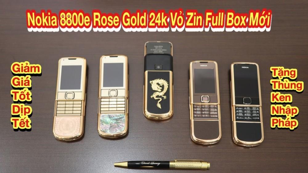 Nhung Tuyet Pham Nokia 8800e Rose Gold 24k Zin Kem Full Box Moi Tang Bieu