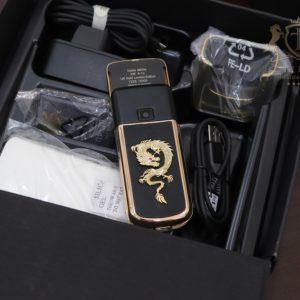 Nokia 8800e Rose Gold 24k Saphire Black Diamond Key Dragon Full Box Like New