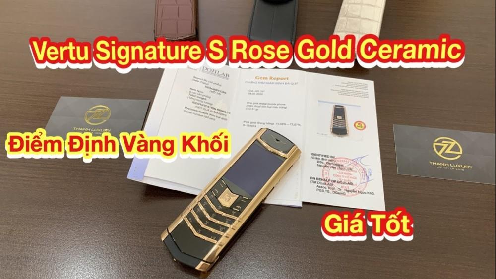 Vertu Signature S Vang Khoi Kem Giay Kiem Dinh Vang Khoi 100