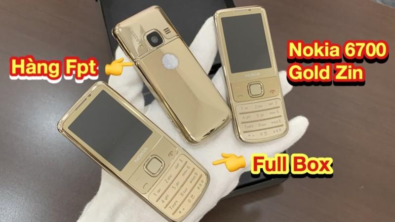 3 Cay Nokia 6700 Gold Zin Hang Fpt Va Full Box Zin Dep Keng