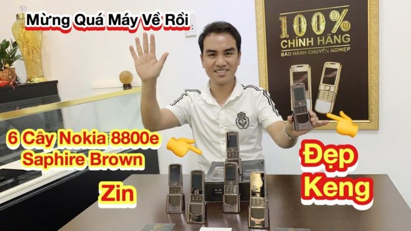 6 Cay Nokia 8800e Saphire Nau Zin Dep Keng Co Ca Full Box Zin Dep Keng