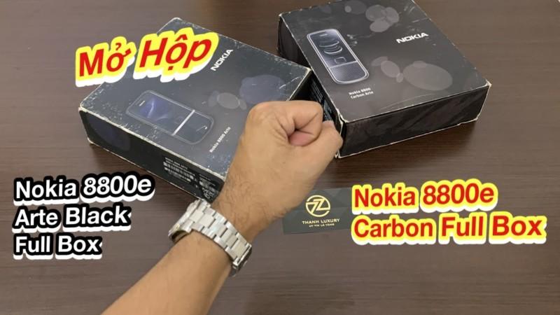Mo Hop Nokia 8800e Carbon Va Arte Black Full Box Con Dep Gan 99