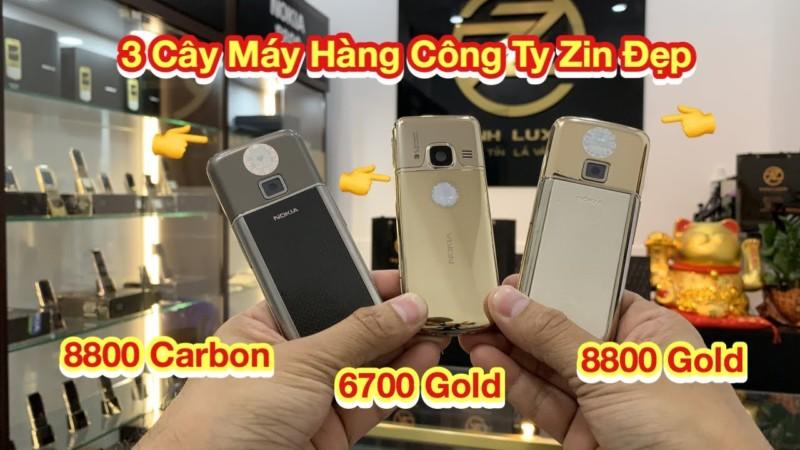 Gioi Thieu 3 Cay Nokia Hang Cong Ty Zin Dep 8800e Gold 8800e Carbon Va 6700 Gold