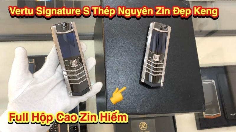 2 Cay Vertu Signature S Steel Nguyen Zin Full Box Zin Gia Hop Ly