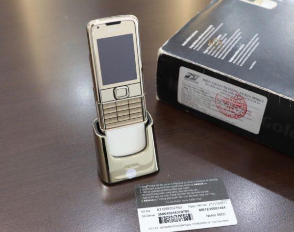 Nokia 8800 Gold Arte Fpt Full Box Like New 3