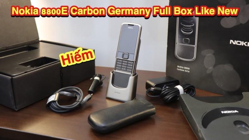 Nokia 8800e Carbon Full Box Den Tu Germany Duc Like New Hiem Lam
