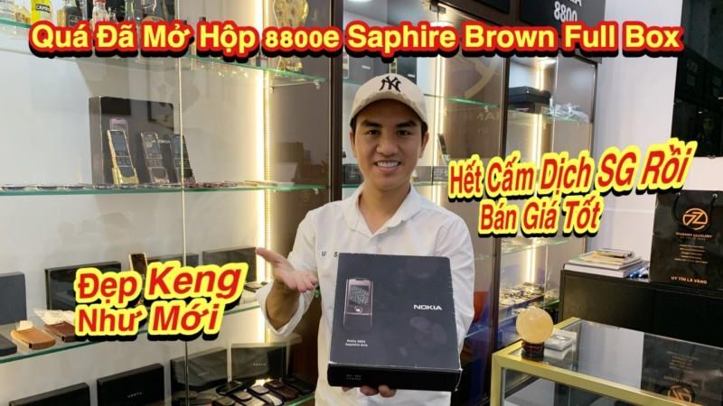 Qua Hiem Khi Nokia 8800e Saphire Nau Full Box Dep Keng Nhu Moi O Thoi Diem Hien Tai