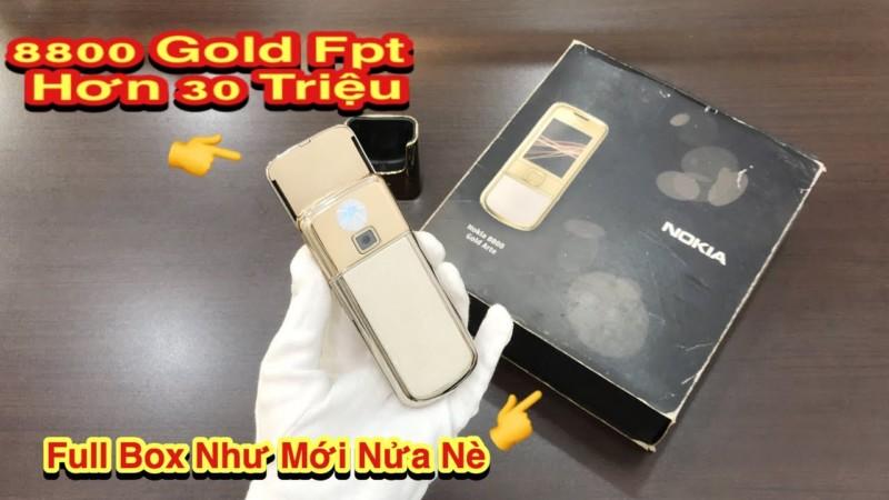 Nokia 8800e Gold Fpt Hon 30 Trieu Sanh Vai Cung Cay Gold Fpt Full Nhu Moi