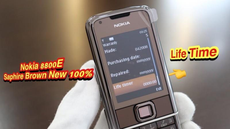 Nokia 8800e Saphire Brown New 100 Chua Qua Su Dung