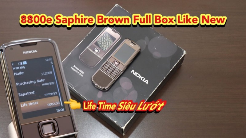 Nokia 8800e Saphire Nau Full Box Dep Nhu Moi