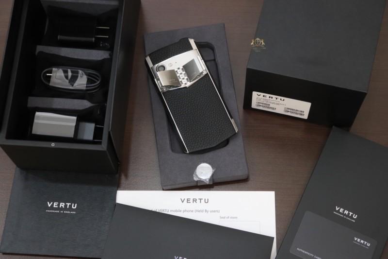 Vertu Aster P Baroque Black Calf Zin New 100 Full Box 2