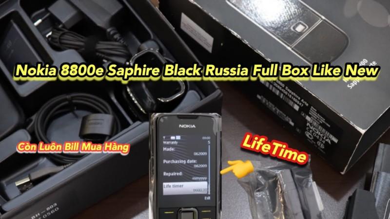 Mo Hop Nokia 8800e Saphire Black Russia Full Box Like New Con Ca Phieu Mua Hang Ben Nga