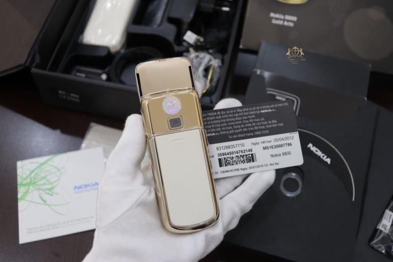 Nokia 8800e Gold Arte Fpt Full Box Like New 5