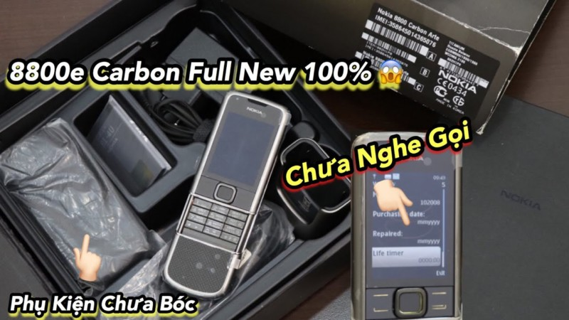 Sieu Pham 8800e Carbon Full Box Moi 100 Chua Nghe Goi