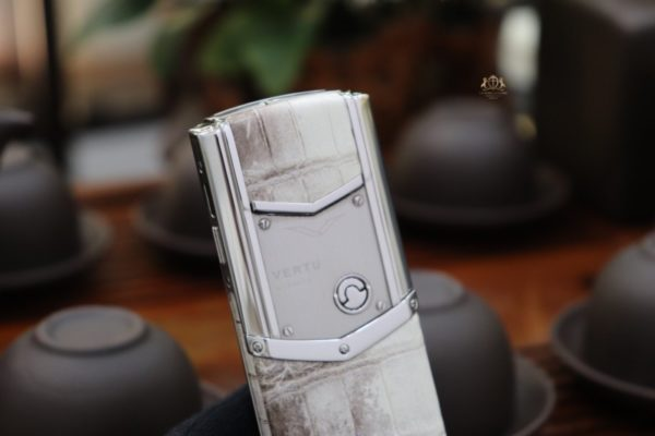 Vertu Signature S Pure Silver White Diamond Key Da Ca Sau Bach Tang 10