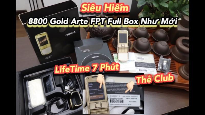 Hang Khung Nokia 8800e Gold Fpt Full Box Like New Nghe Goi Chi 7 Phut
