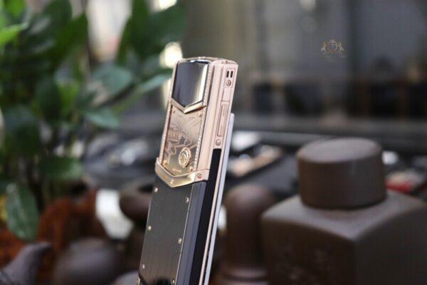 Vertu Signature S Designer Rose Gold Mix Diamonds 8