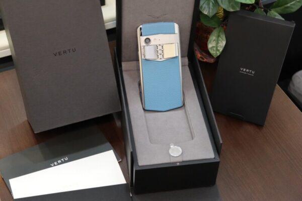 Vertu Aster P Blue Full Box Like New 2