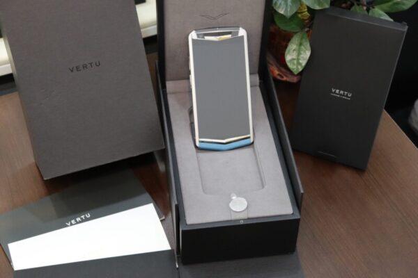 Vertu Aster P Blue Full Box Like New
